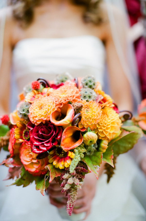 Flowers & Decor, Real Weddings, Wedding Style, orange, red, Bride Bouquets, Fall Weddings, West Coast Real Weddings, Fall Real Weddings, Vineyard Real Weddings, Vineyard Weddings, Fall Wedding Flowers & Decor, Vineyard Wedding Flowers & Decor
