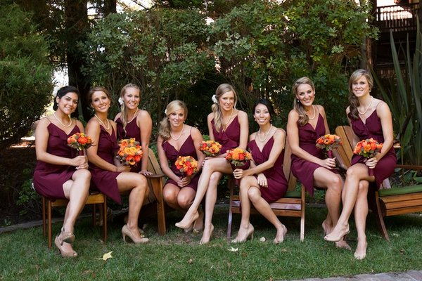 Bridesmaid Dresses, Fashion, Real Weddings, Wedding Style, burgundy, Fall Weddings, West Coast Real Weddings, Fall Real Weddings, Vineyard Real Weddings, Vineyard Weddings