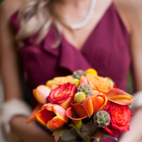 Flowers & Decor, Real Weddings, Wedding Style, orange, burgundy, Bridesmaid Bouquets, Fall Weddings, West Coast Real Weddings, Fall Real Weddings, Vineyard Real Weddings, Vineyard Weddings, Fall Wedding Flowers & Decor