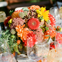 Flowers & Decor, Real Weddings, Wedding Style, orange, red, gold, Centerpieces, Fall Weddings, West Coast Real Weddings, Fall Real Weddings, Vineyard Real Weddings, Vineyard Weddings, Fall Wedding Flowers & Decor, Rustic Wedding Flowers & Decor, Vineyard Wedding Flowers & Decor