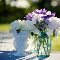Flowers & Decor, Real Weddings, Wedding Style, blue, Rustic Real Weddings, Spring Weddings, Spring Real Weddings, Rustic Weddings, Rustic Wedding Flowers & Decor, Spring Wedding Flowers & Decor, Mason jars, mid-atlantic real weddings