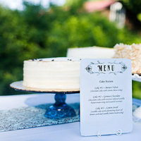 Stationery, Cakes, Real Weddings, Wedding Style, blue, Modern Wedding Cakes, Wedding Cakes, Menu Cards, Rustic Real Weddings, Spring Weddings, Spring Real Weddings, Rustic Weddings, mid-atlantic real weddings