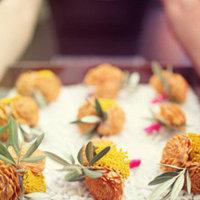 Flowers & Decor, Real Weddings, Wedding Style, yellow, Boutonnieres, West Coast Real Weddings, Shabby Chic Real Weddings, Shabby Chic Weddings, Modern Wedding Flowers & Decor