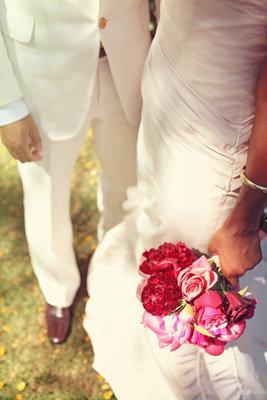 Flowers & Decor, Real Weddings, Wedding Style, pink, Bride Bouquets, West Coast Real Weddings, Shabby Chic Real Weddings, Shabby Chic Weddings, Modern Wedding Flowers & Decor