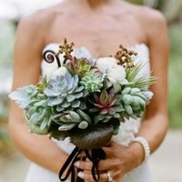 Flowers & Decor, Real Weddings, Wedding Style, blue, green, Bride Bouquets, Rustic Real Weddings, Southern Real Weddings, Spring Weddings, Rustic Weddings, Rustic Wedding Flowers & Decor