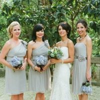 Bridesmaids Dresses, Fashion, Real Weddings, Wedding Style, blue, gray, Rustic Real Weddings, Southern Real Weddings, Spring Weddings, Rustic Weddings