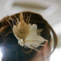 Beauty, Real Weddings, Wedding Style, Chignon, Updo, Feathers, Rustic Real Weddings, Southern Real Weddings, Spring Weddings, Rustic Weddings, Hair flower