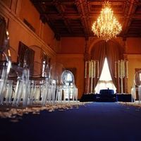 Ceremony, Real Weddings, Destination, Glamorous, Formal, Ballroom, Dramatic, Indoor, Ghost chairs