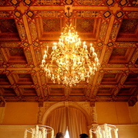 Ceremony, Flowers & Decor, Real Weddings, Ceremony Decor, Destination, Glamorous, Formal, Ballroom, Dramatic, Ceremony décor