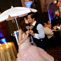 Real Weddings, Dessert, Destination, Glamorous, Formal, Dramatic, Pink wedding dress