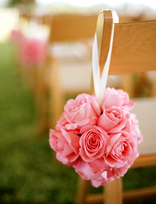 Flowers & Decor, Real Weddings, Wedding Style, pink, Ceremony Flowers, Aisle Decor, Summer Weddings, West Coast Real Weddings, Summer Real Weddings, Summer Wedding Flowers & Decor