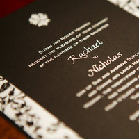 Stationery, Real Weddings, Wedding Style, black, Invitations, Modern Real Weddings, Glam Real Weddings, Glam Weddings, Modern Weddings, Damask