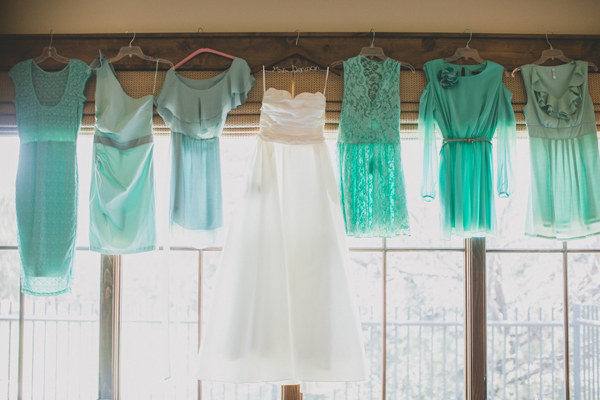 Bridesmaids Dresses, Fashion, Real Weddings, Wedding Style, green, Southern Real Weddings, Spring Weddings, Spring Real Weddings, Teal