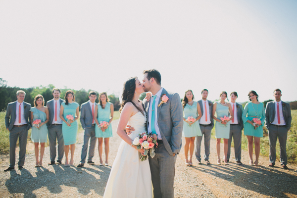 Fashion, Real Weddings, Wedding Style, blue, green, gray, Southern Real Weddings, Spring Weddings, Spring Real Weddings, Wedding party, Grey, Teal, Pastel