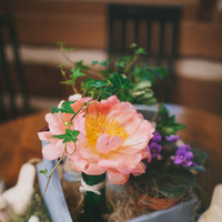 Flowers & Decor, Real Weddings, Wedding Style, orange, Centerpieces, Southern Real Weddings, Spring Weddings, Spring Real Weddings, Rustic Wedding Flowers & Decor