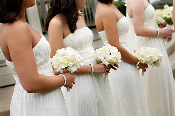 Flowers & Decor, Real Weddings, Wedding Style, white, Bridesmaid Bouquets, West Coast Real Weddings, Classic Real Weddings, Classic Weddings, West Coast Weddings