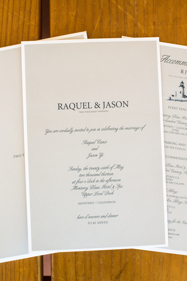 Stationery, Real Weddings, Wedding Style, gray, Invitations, Summer Weddings, West Coast Real Weddings, Summer Real Weddings, Grey, Wedding invitations, Nautical Weddings, Nautical Real Weddings