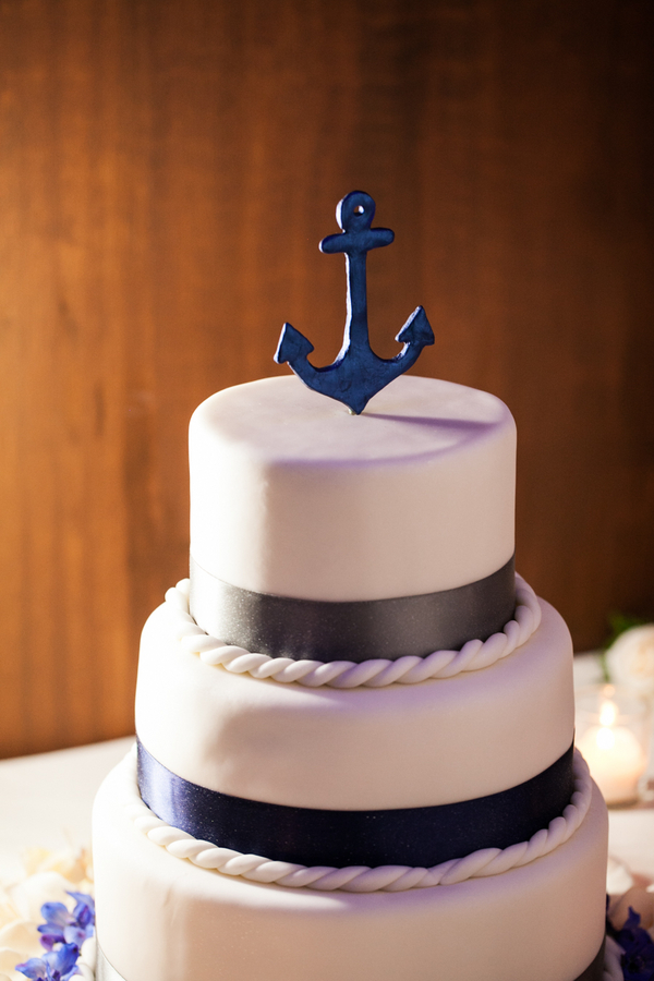 Cakes, Real Weddings, Wedding Style, blue, Wedding Cakes, Cake Toppers, Summer Weddings, West Coast Real Weddings, Summer Real Weddings, Nautical Weddings, Nautical Real Weddings