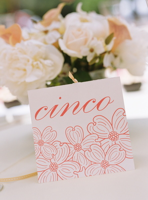 Stationery, Real Weddings, Wedding Style, pink, Table Numbers, Spring Weddings, West Coast Real Weddings, Garden Real Weddings, Spring Real Weddings, Garden Weddings