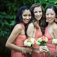 Real Weddings, pink, red, Bridesmaid Bouquets, Beach Real Weddings, Summer Weddings, Summer Real Weddings, Beach Weddings