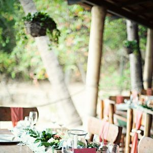 Destinations, Real Weddings, pink, red, Mexico, Beach, Tables & Seating, Beach Real Weddings, Summer Weddings, Summer Real Weddings, Beach Weddings, Beach Wedding Flowers & Decor