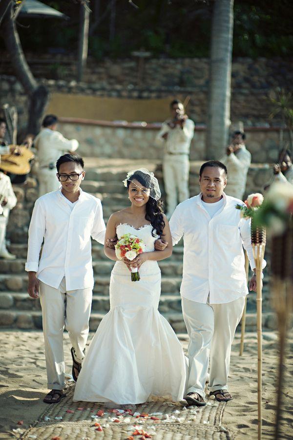 Destinations, Real Weddings, white, Mexico, Beach, Ceremony Flowers, Beach Real Weddings, Summer Weddings, Summer Real Weddings, Beach Weddings, Beach Wedding Flowers & Decor