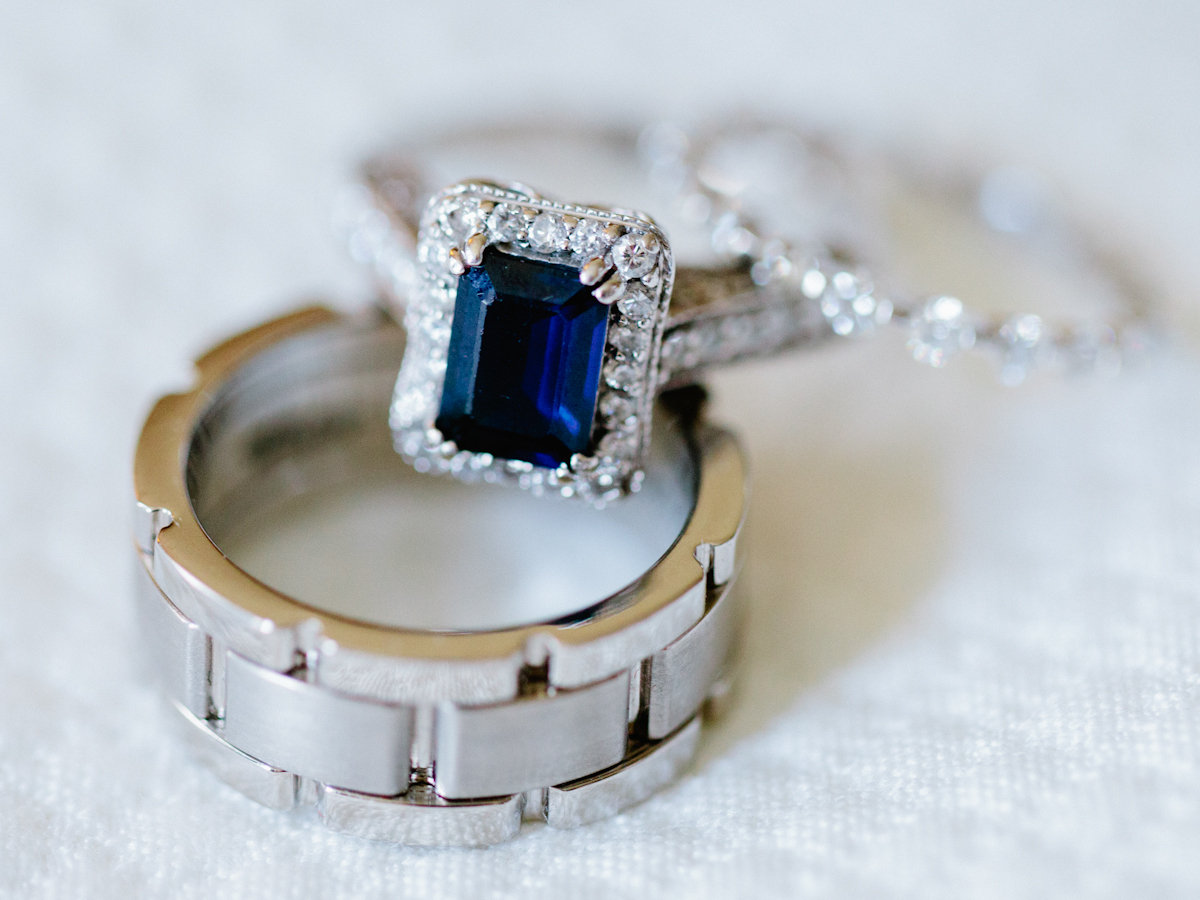 Jewelry, Real Weddings, Wedding Style, blue, gray, silver, Engagement Rings, Wedding Bands, Southern Real Weddings, Summer Weddings, Summer Real Weddings, Sapphire