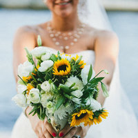 Flowers & Decor, Real Weddings, Wedding Style, yellow, Bride Bouquets, Southern Real Weddings, Summer Weddings, Summer Real Weddings, Summer Wedding Flowers & Decor