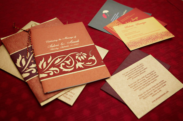 Stationery, Real Weddings, Wedding Style, red, Ceremony Programs, Fall Weddings, West Coast Real Weddings, Fall Real Weddings, cultural real weddings, cultural weddings, indian real weddings, indian weddings