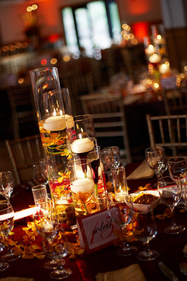Flowers & Decor, Real Weddings, Wedding Style, red, Centerpieces, Candles, Fall Weddings, West Coast Real Weddings, Fall Real Weddings, Fall Wedding Flowers & Decor, cultural real weddings, cultural weddings, indian real weddings, indian weddings