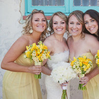 Bridesmaid Dresses, Fashion, Real Weddings, Wedding Style, yellow, Modern Real Weddings, Spring Weddings, West Coast Real Weddings, Spring Real Weddings, Modern Weddings