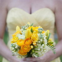 Flowers & Decor, Real Weddings, Wedding Style, yellow, Bridesmaid Bouquets, Modern Real Weddings, Spring Weddings, West Coast Real Weddings, Spring Real Weddings, Modern Weddings, Summer Wedding Flowers & Decor