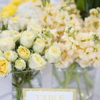 Flowers & Decor, Stationery, Real Weddings, Wedding Style, white, Centerpieces, Table Numbers, Modern Real Weddings, Spring Weddings, West Coast Real Weddings, Spring Real Weddings, Modern Weddings, Summer Wedding Flowers & Decor