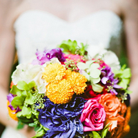 Flowers & Decor, Destinations, Real Weddings, Wedding Style, white, orange, pink, purple, blue, green, Destination Weddings, Mexico, Bride Bouquets, Beach Real Weddings, Summer Weddings, Summer Real Weddings, Beach Weddings, Beach Wedding Flowers & Decor, Garden Wedding Flowers & Decor, Summer Wedding Flowers & Decor