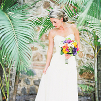 Wedding Dresses, Beach Wedding Dresses, Destinations, Fashion, Real Weddings, Wedding Style, white, Destination Weddings, Mexico, Beach Real Weddings, Summer Weddings, Summer Real Weddings, Beach Weddings