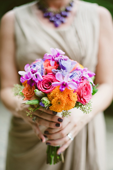 Flowers & Decor, Destinations, Real Weddings, Wedding Style, orange, pink, Destination Weddings, Mexico, Bridesmaid Bouquets, Beach Real Weddings, Summer Weddings, Summer Real Weddings, Beach Weddings, Beach Wedding Flowers & Decor, Summer Wedding Flowers & Decor