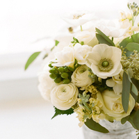 Flowers & Decor, Real Weddings, Wedding Style, ivory, Centerpieces, Northeast Real Weddings, Modern Real Weddings, Winter Weddings, City Real Weddings, Winter Real Weddings, City Weddings, Modern Weddings, Classic Wedding Flowers & Decor, Modern Wedding Flowers & Decor, Spring Wedding Flowers & Decor, Summer Wedding Flowers & Decor, Winter Wedding Flowers & Decor, Roses, Poppies