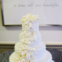 Cakes, Real Weddings, Wedding Style, ivory, Classic Wedding Cakes, Modern Wedding Cakes, Wedding Cakes, Fall Weddings, Southern Real Weddings, Classic Real Weddings, Fall Real Weddings, Classic Weddings, Garden Weddings, Ruffles, Southern weddings