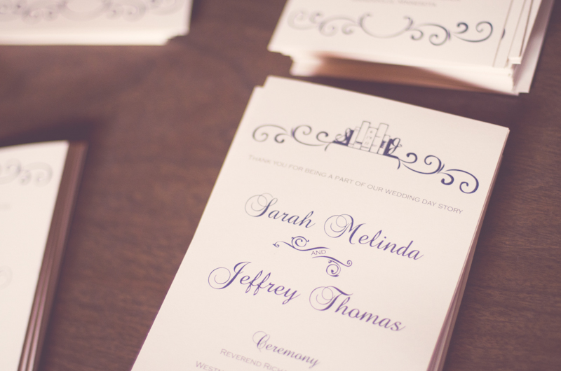 Stationery, Real Weddings, Wedding Style, blue, Ceremony Programs, Winter Weddings, Midwest Real Weddings, Vintage Real Weddings, Winter Real Weddings, Vintage Weddings