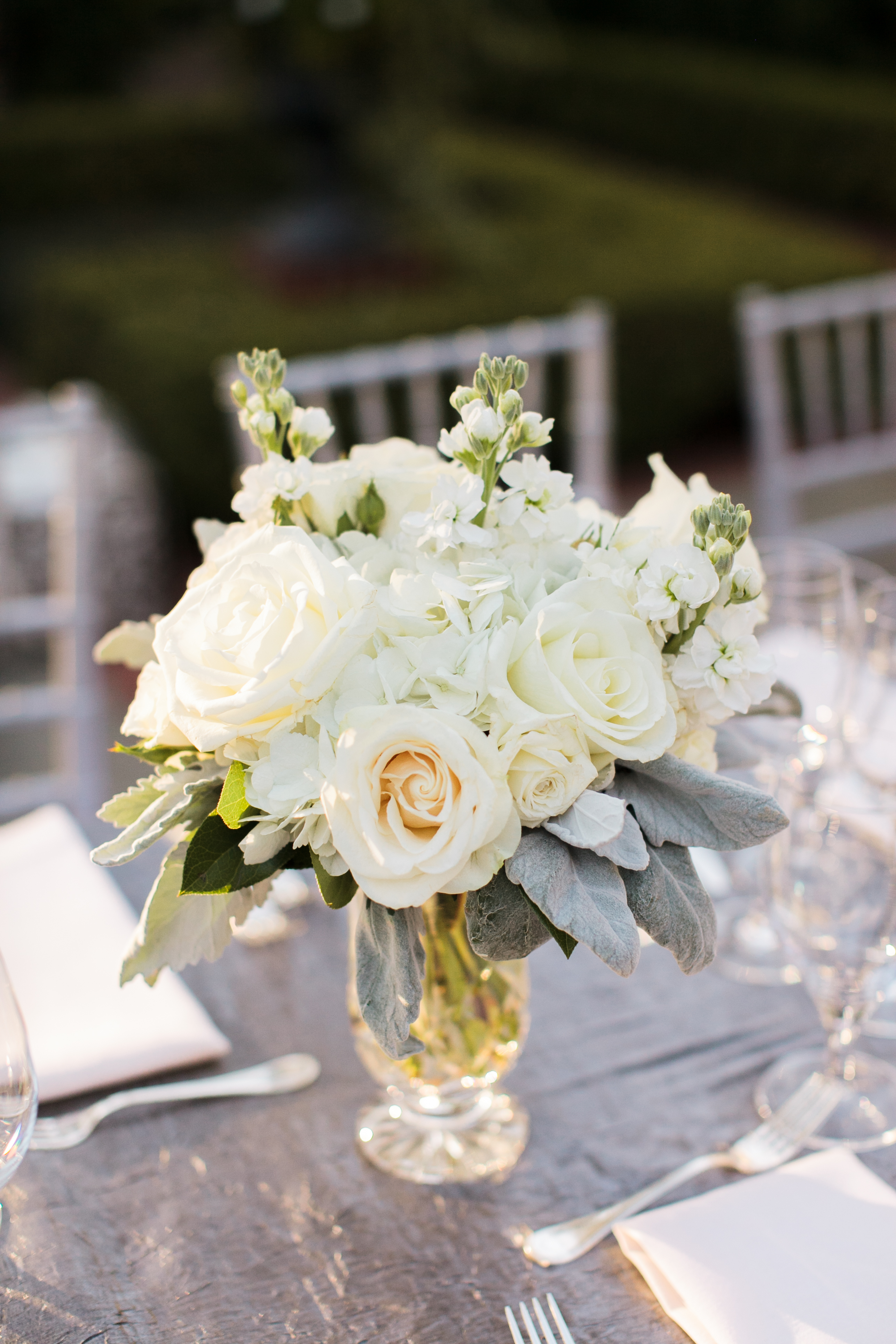 Flowers & Decor, Fashion, Real Weddings, Wedding Style, ivory, silver, Centerpieces, Fall Weddings, Southern Real Weddings, Classic Real Weddings, Fall Real Weddings, Classic Weddings, Garden Weddings, Classic Wedding Flowers & Decor, Roses, Colors, Southern weddings