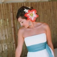 Beauty, Destinations, Real Weddings, Wedding Style, Updo, Hawaii, Beach Real Weddings, Summer Weddings, Summer Real Weddings, Beach Weddings, Hair flower