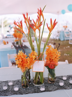 Flowers & Decor, Destinations, Real Weddings, Wedding Style, orange, Hawaii, Beach Real Weddings, Summer Weddings, Summer Real Weddings, Beach Weddings, Beach Wedding Flowers & Decor