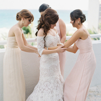 Bridesmaids Dresses, Romantic Wedding Dresses, Destinations, Fashion, Real Weddings, Wedding Style, pink, Destination Weddings, Classic Real Weddings, Summer Real Weddings, Classic Weddings, Champagne, Colors, Sleeves, Romantic Real Weddings, Romantic Weddings, lace wedding dress