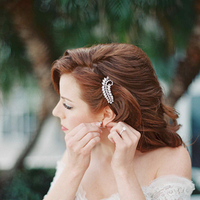 Beauty, Destinations, Real Weddings, Wedding Style, Down, Wavy Hair, Hairpin, Destination Weddings, Classic Real Weddings, Summer Real Weddings, Classic Weddings, Romantic Real Weddings, Romantic Weddings