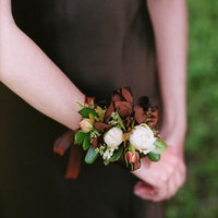 Flowers & Decor, Real Weddings, Wedding Style, brown, Corsages, Fall Weddings, West Coast Real Weddings, Fall Real Weddings