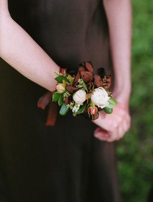 Flowers & Decor, Real Weddings, Wedding Style, brown, Corsages, Fall Weddings, West Coast Real Weddings, Fall Real Weddings
