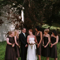 brown, Fall Weddings, West Coast Real Weddings