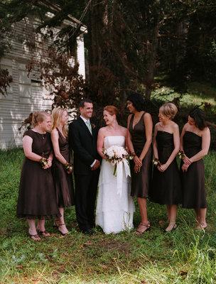 brown, Fall Weddings, West Coast Real Weddings