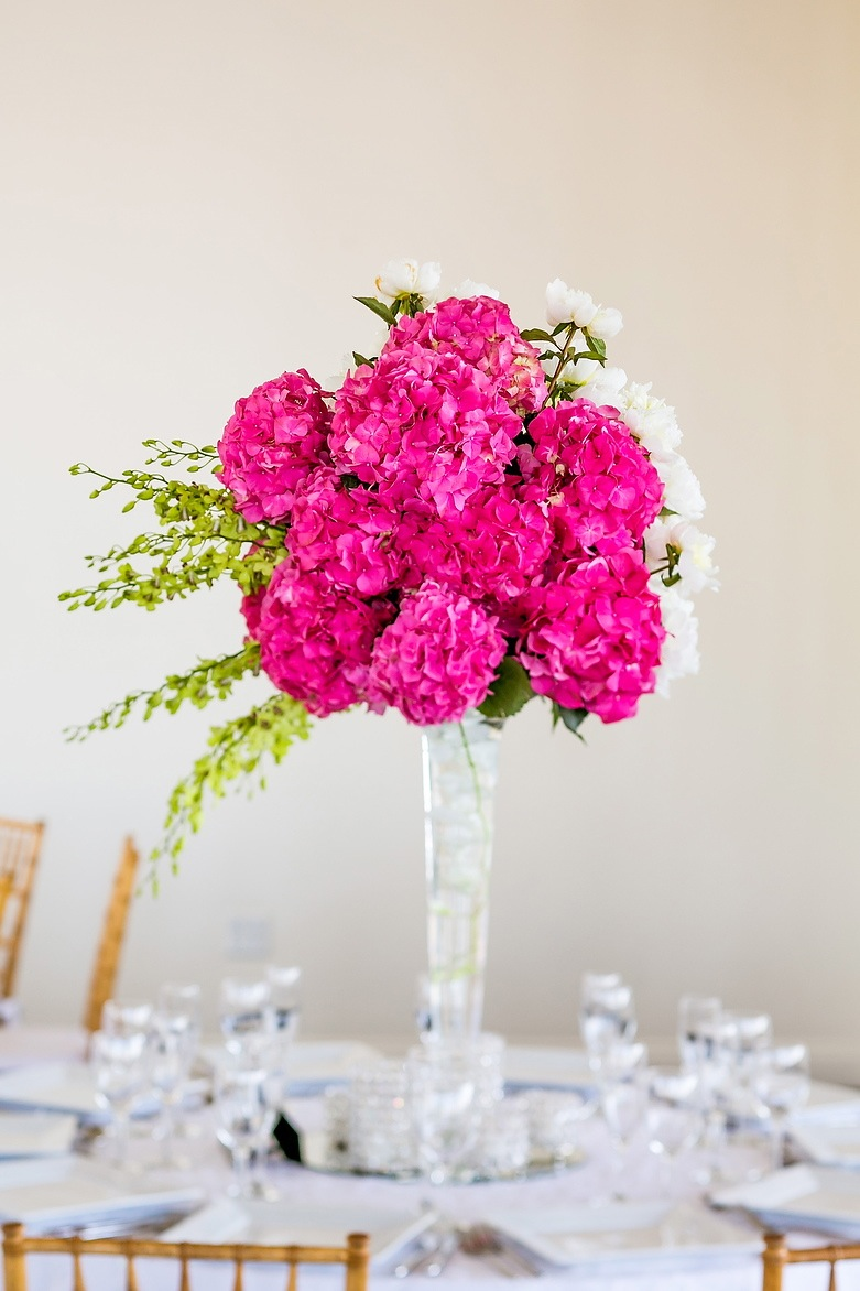 Flowers & Decor, Real Weddings, Wedding Style, pink, Centerpieces, Northeast Real Weddings, City Real Weddings, Classic Real Weddings, Classic Weddings, Classic Wedding Flowers & Decor, Spring Wedding Flowers & Decor, Hydrangea