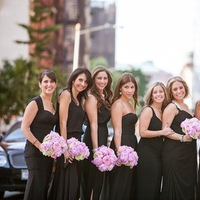 Bridesmaid Dresses, Fashion, Real Weddings, Wedding Style, black, Northeast Real Weddings, City Real Weddings, Classic Real Weddings, Classic Weddings